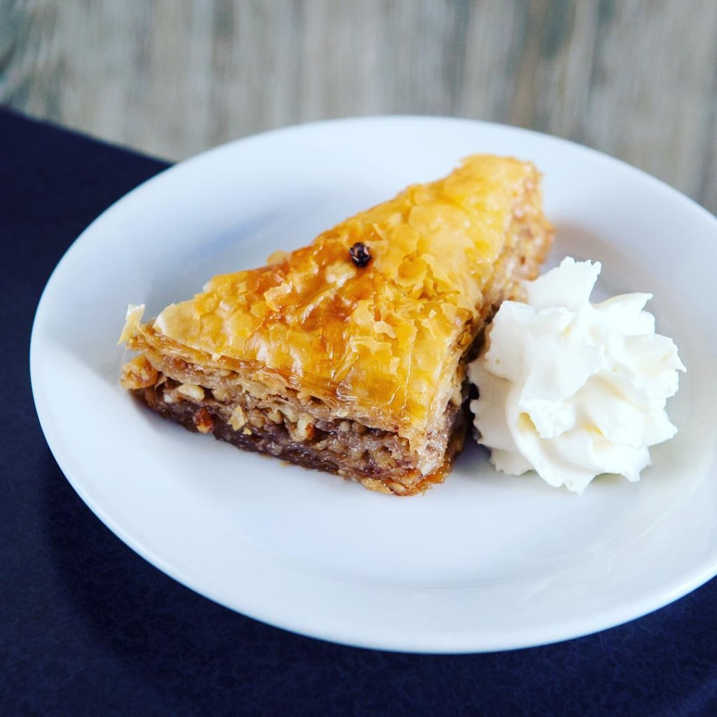 @bluenoseiirestaurant (this is really a pic of baklava - looks like you'll have to hit Bluenose II to see what the coconut cream pie looks like ;))