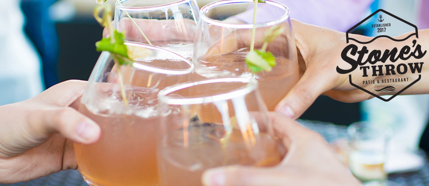 Cocktail glasses cheers-ing